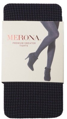 Merona Women's Houndstooth Sweater Tight - Black