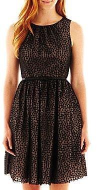 Jessica Howard Belted Polka Dot Dress