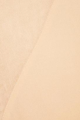 Alexander Wang Mesh-paneled silk top