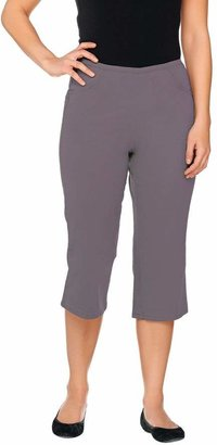 "Denim & Co. How Timeless"" Stretch Capri Pants w/Front Pockets"