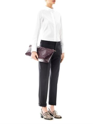 Jil Sander Pamela cotton side-slit shirt
