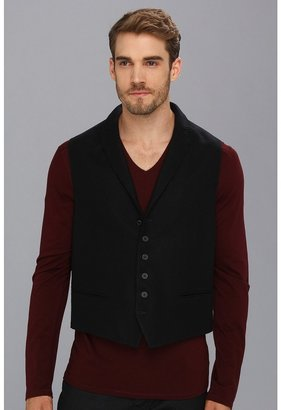 John Varvatos Peak Lapel Vest w/ Wire (Dark Navy) - Apparel