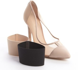 Reed Krakoff Nude Mesh And Leather Band Detail Pointy Pumps