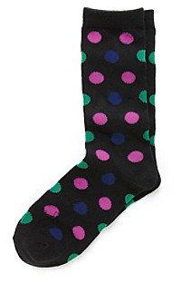 Relativity Polka Dot Crew Socks