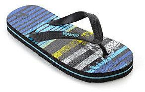 Mambo Boys' Striped Flip Flops