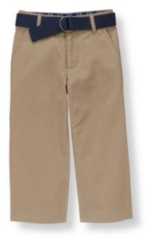 Janie and Jack Belted Twill Pant