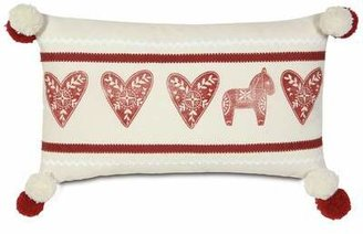 Nordic Eastern Accents Holiday Lucy's Hearts Lumbar Pillow Eastern Accents