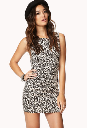 Forever 21 Femme Rosette Bodycon Dress