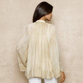 Ralph Lauren Blue Label Embellished Silk Gauze Tunic