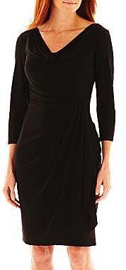 JCPenney American Living Side-Drape Dress