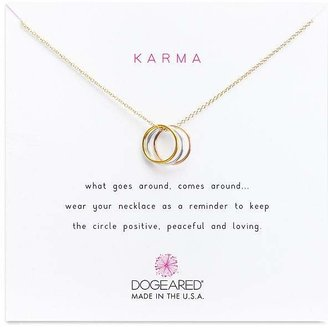 Dogeared Triple Karma Mixed Metals Necklace, 16""