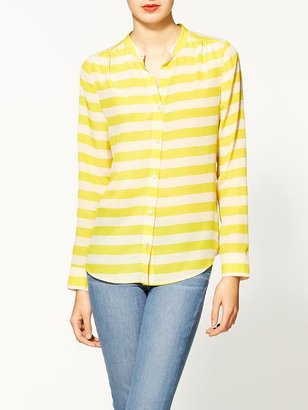 Pim + Larkin Tory Silk Striped Blouse