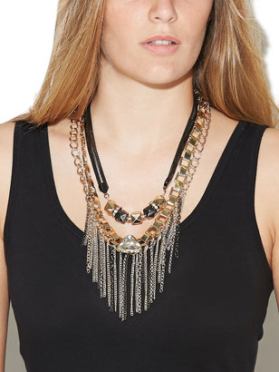 Arden B Row Mixed Metal Necklace