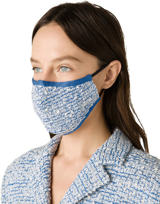 St. John Boucle Grid Knit Face Mask Covering