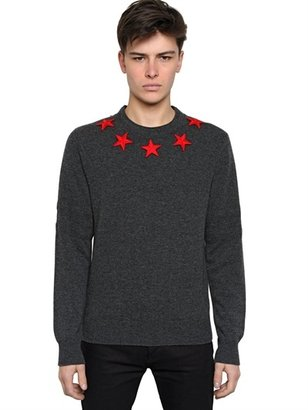 Givenchy Embroidered Stars Wool Knit Sweater