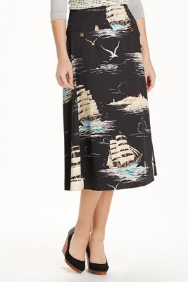Anthropologie Sailaway Circle Skirt