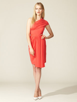 Peter Som Draped One Shoulder Knit Dress