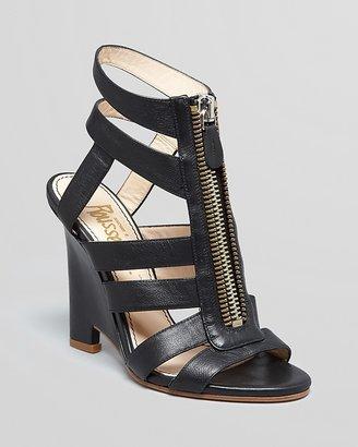 Jerome C. Rousseau Wedge Sandals - Arcos Zipper