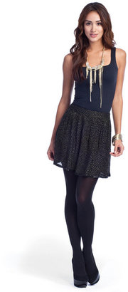 Gryphon Black Beaded Flippy Skirt