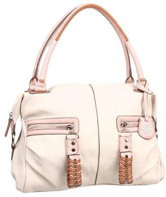 Jessica Simpson Jasmine Satchel (Cream/Lotus/Safari) - Bags and Luggage