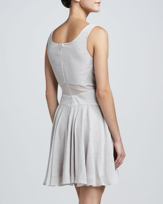 Zac Posen Sleeveless V-Neck Embellished Dress