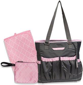 Gerber Solid Diaper Tote - Pink/Grey