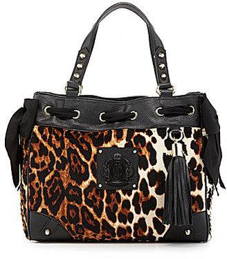 Juicy Couture Daydreamer Leopard Print Velour Shopper