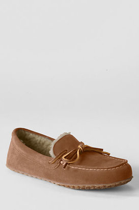 Lands' End Women's Suede Moc Slippers