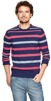 Gap Multi-stripe crewneck sweater