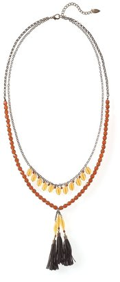 Coldwater Creek Crystalline tassel necklace