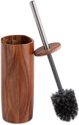 Taymor® Acacia Toilet Bowl Brush with Lid