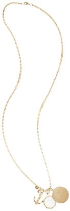 Brooks Brothers Three Charm Necklace