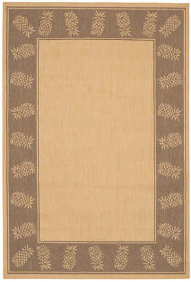 "Couristan Area Rug, Recife Indoor/Outdoor 1177/3000 Tropics Natural-Cocoa 5' 9"" x 9' 2"""