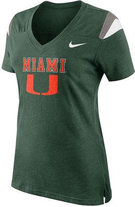 Nike Women's Shirt, NCAA College Fan Miami University Tee