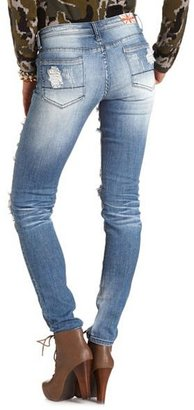 Charlotte Russe Machine Jeans Destroyed Skinny Jean
