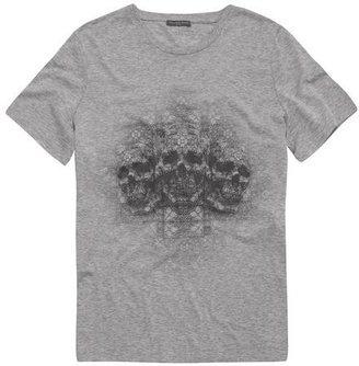 Alexander McQueen Stained Glass Rhapsody Skull Oversized T-Shirt