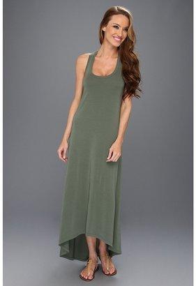 Splendid Racerback High-Low Dress (Camo Green) - Apparel