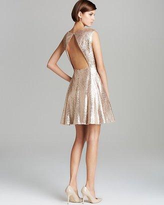 Aqua Dress - Sequin Open Back