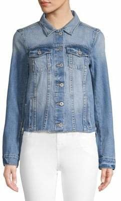 Paige Raw Hem Denim Jacket