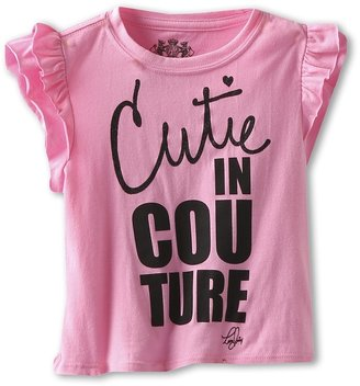 Juicy Couture Cutie in Couture Tee (Toddler/Little Kdis/Big Kids) (Bardot) - Apparel