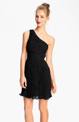 BB Dakota One Shoulder Crinkle Chiffon Dress
