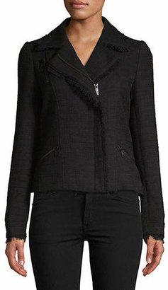 Karl Lagerfeld PARIS Tweed Moto Jacket