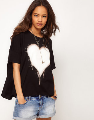 Asos Top with Bleached Heart