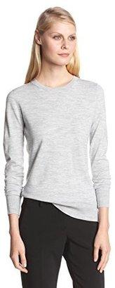 Theory Women's Kralla Evian Stretch Long-Sleeve Crew Sweater