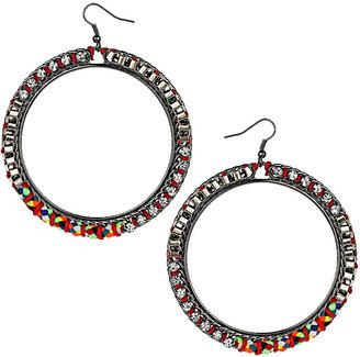 Topshop Friendship Rhinestone Hoop Earrings