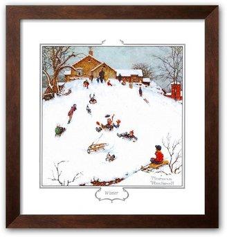 """Art.com Deadman's Hill"""" Framed Art Print by Norman Rockwell"""