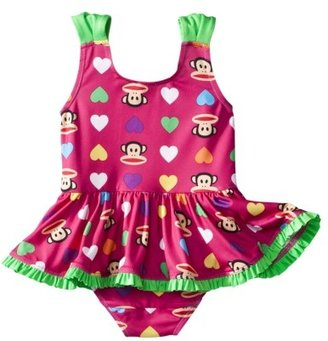 Favorite Characters Paul Frank® For Target® Infant Girls 1-Piece Ruffle Swim Suit - Berry
