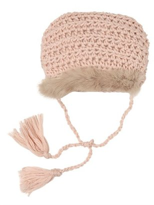 Merinos Wool Lace & Rabbit Fur Bonnet
