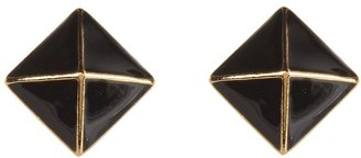 Kate Spade Locked In Stud Earrings (Black) - Jewelry
