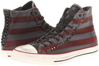 Converse Chuck Taylor All Star Studded Flag Well-Worn Hi (Turtledove/Chili Pepper) - Footwear